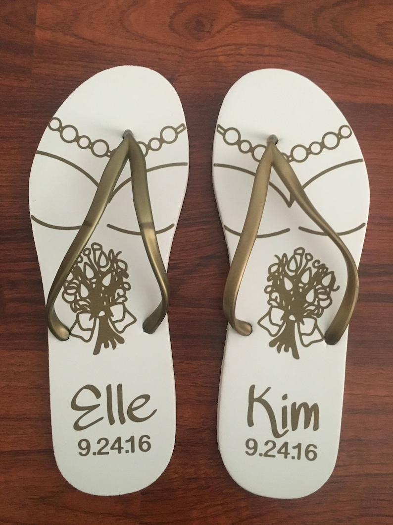 f814cab51dd5d 40 pairs - Personalized Flip-flops for Party Guests - Gay Wedding,  Anniversary. BULK
