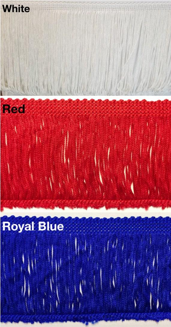 12in Chainette Fringe Trim Royal Blue
