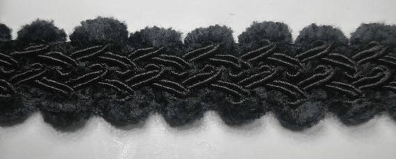 Black 18 Continuous Yards Many Colors! 3//4 Gimp Braid Knit Loop Trim