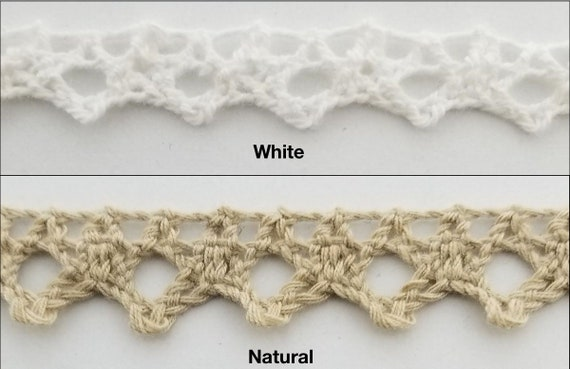 10 Continuous Yards 1.5 Cotton Cluny Braided Looped Fringe Trimming White