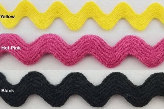 Cotton Ric Rac Ribbon Black 4 Yards Jumbo Size