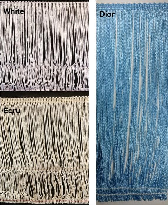 "8 yards Grey Multi-Color Fringe Trim 1-1//4/"" Rayon Sewing Craft Fabric"