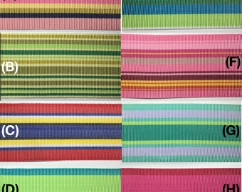 """1.5"""" Striped Grosgrain Ribbon - Many Styles and Colors! 35 Yards TOTAL!"""
