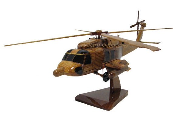 HH-60J MH-60J Mh-60T Coast Guard USCG Jayhawk Jay Hawk Helicopter Wood  Wooden Model Gift Father's Day Retirement Graduation