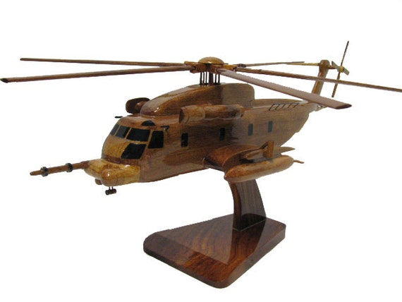 Sikorsky MH-53 MH-53M Pave Low USAF Air Force Special Operations Command  Afsoc Csar Helicopter Wood Handcrafted Wooden Model Gift