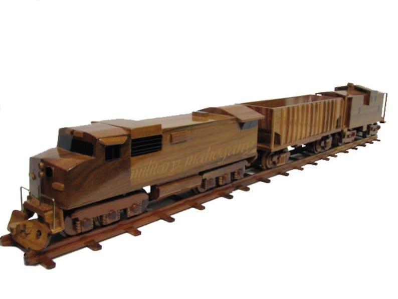Csx Norfolk Southern Union Pacific Burlington Northern Train Engine Mahogany Railroad Wood Wooden Model Gift