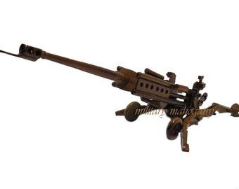 M777 155mm Army Marine Field Artillery Howitzer Mahogany Wood Wooden Model Military Gift