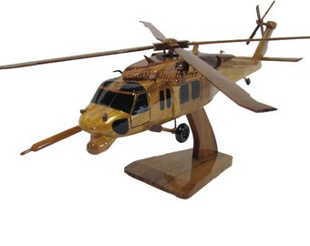Sikorsky HH-60 Pave Hawk Pavehawk Military USAF Afsoc Csar Helicopter Wood Handcrafted Wooden Model Retirement Graduation Father's Day Gift