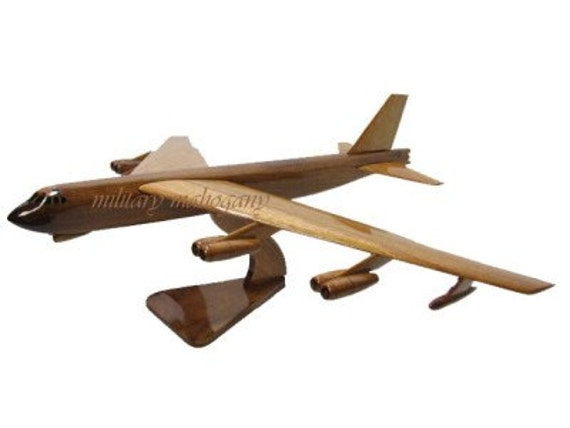 USAF Air Force B-52 Stratofortress Mahogany Wood Wooden Buff Bomber Model New
