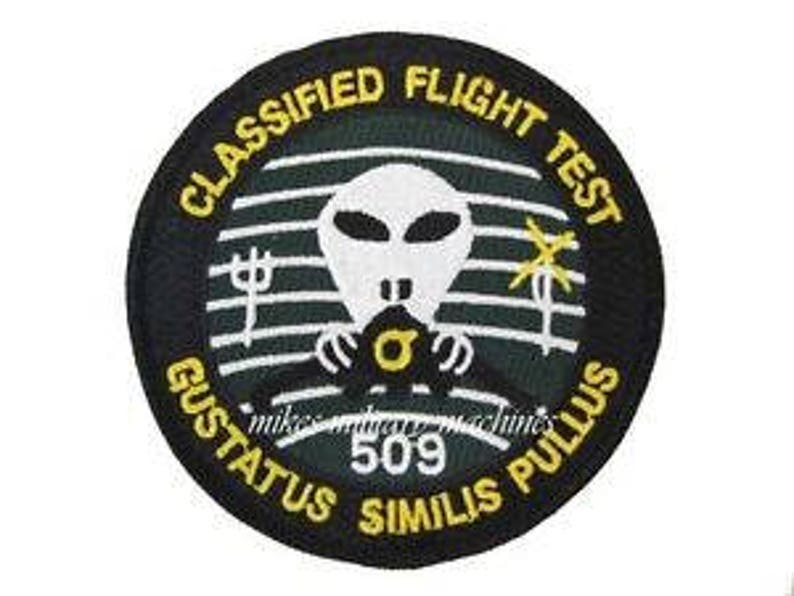 USAF Area 51 Air Force Black Ops Groom Lake Stealth B-2 509th Classified  Flight Test Patch The Truth is Out There Twilight Zone