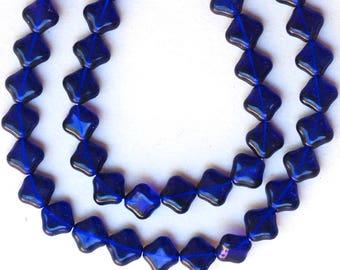 12mm Tabular Lozenge Bead - Czech Glass Beads - Various Colors - Qty 50