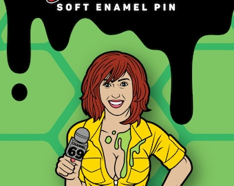 "Wood Rocket April O'Neil Pin: Inspired by ""Ten Inch Mutant Ninja Turtles"""