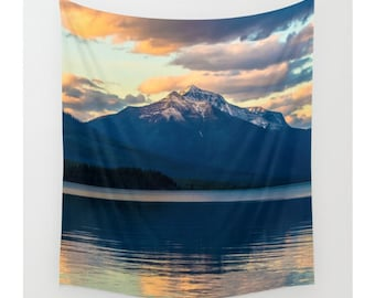 Mountain Wall Tapestry, Mountain Tapestry, Wall Hanging, Nature Tapestry, Photo Tapestry, Modern Tapestry, Lake Tapestry, Boho Tapestry