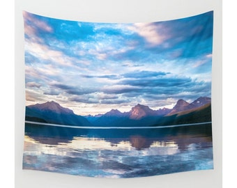 Mountain Tapestry, Wall Tapestry, Wall Hanging, Photo Tapestry, Nature Tapestry, Boho Tapestry, Lake Tapestry, Extra Large Wall Art