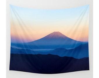 Mountain Tapestry, Wall Hanging, Boho Tapestry, Nature Tapestry, Modern Tapestry, Photo Tapestry, Extra Large Wall Art, Mount Fuji