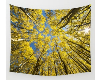 Tree Tapestry, Wall Tapestry, Trees Forest Woods Wilderness Sky, Large Size Wall Art, Boho Wall Tapestry, Modern Tapestry, Boho Chic Decor