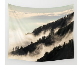 Mountain Tapestry, Tree Tapestry, Wall Hanging, Sky Tapestry, Nature Tapestry, Photo Tapestry, Modern Tapestry, Wall Tapestry