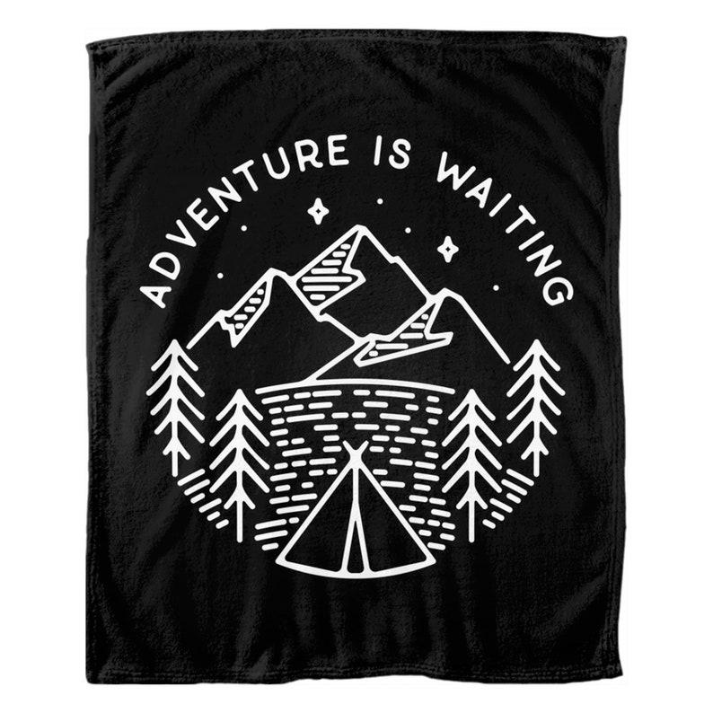 Adventure Throw Blanket Adventure Quotes Nature Adventure Etsy