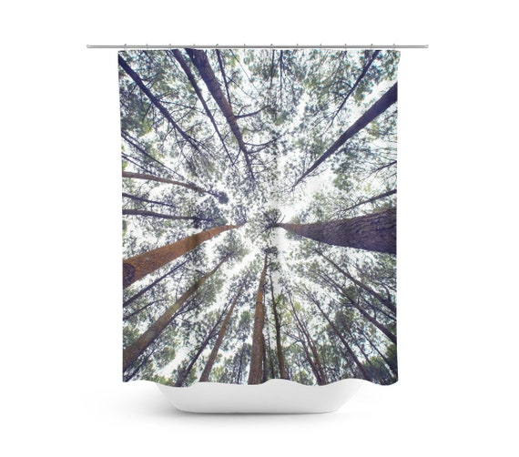 Forest Shower Curtain Trees Woodland