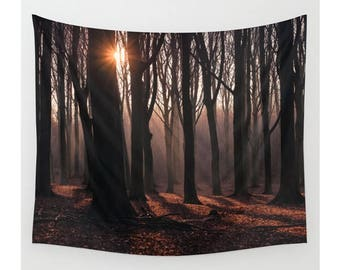 Tree Wall Tapestry, Forest Wall Tapestry, Forest Tapestry, Nature Wall Tapestry, Woods Wall Tapestry, Large Wall Tapestries