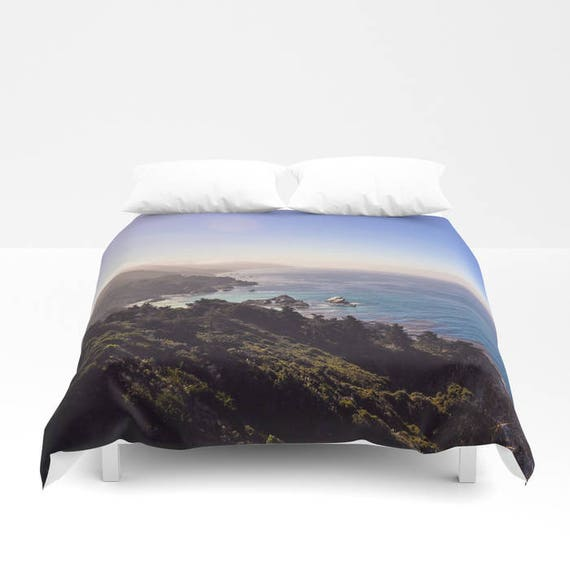 housse de couette oc an vagues montagne arbres literie. Black Bedroom Furniture Sets. Home Design Ideas