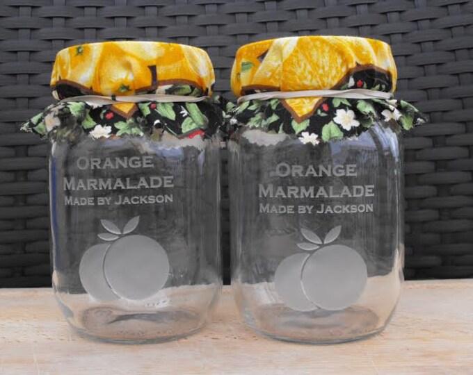 Personalized Custom Engraved Glass Mason Jars, Canning Jars, Storage Jars, Decorative Jars