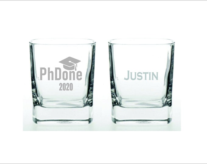 Funny PhD Wine Glass, PhDone, Doctorate Degree Gift, Masters Gift, Graduation Wine Glass, Graduate Gift,Personalized, Engraved
