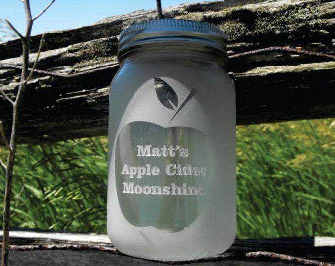 Engraved Dishwasher Safe Personalized Mason Jars - Moonshine Jars - Custom Mason Jars - Your Design and Personalization - Mason Jar Gift