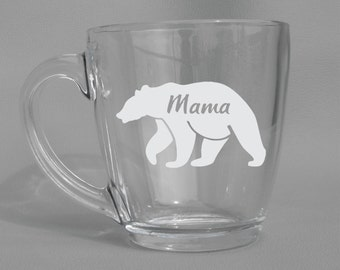 Deep Engraved Dishwasher Safe Mama Bear Mug, New Mom Gift, Mothers Day Gift, Gift for Mom, Mom To Be Mug, Mother To be Mug, Mom Mug