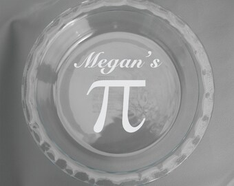 Personalized Etched Dishwasher and Stove Safe Engraved Custom Glass Pyrex Pie Dish - Your Design or Message