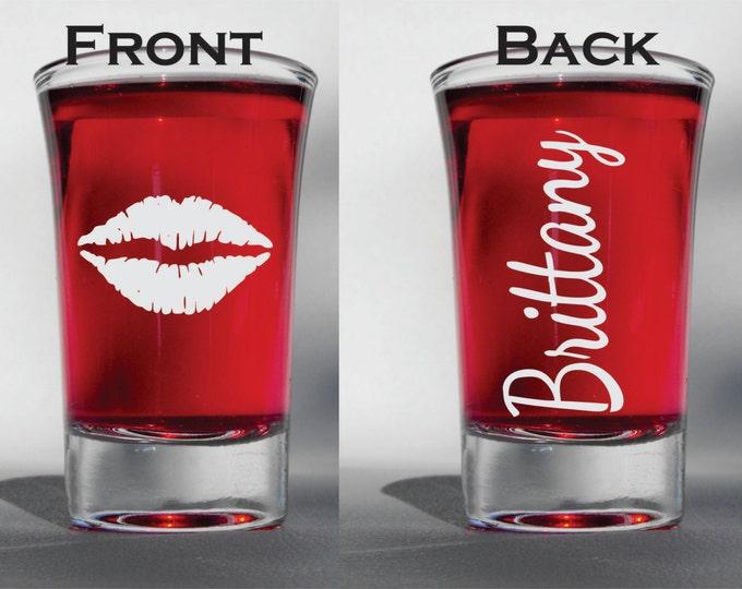 Deep Engraved Dishwasher Safe Bachelorette Wedding Favor Shot Glasses - Personalized Etched Shot Glasses - Wedding Favors