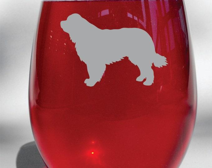 Deep Engraved Personalized New Foundlander Choice of Wine Glass, Whiskey Glass, Glass Coffee Mug, Champ Flute