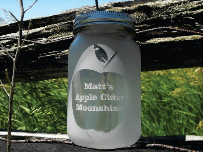 Engraved Dishwasher Safe Personalized Mason Jars Moonshine Etsy