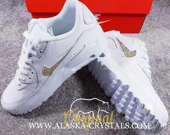 d1408e8c143f Custom Nike Air Max 90 With Swarovski Crystals.