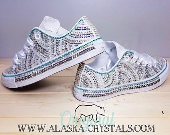 e26dd30200b2 Luxury Custom Converse Fully Covered In Swarovski Crystals