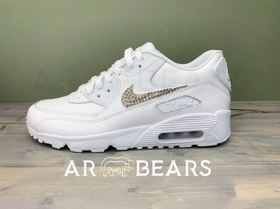 Custom Sneakers, Nike Airmax, Wedding trainers, Mens & Womens, All White Nikes , Custom Nikes , Swarovski Crystals , Bling sneakers