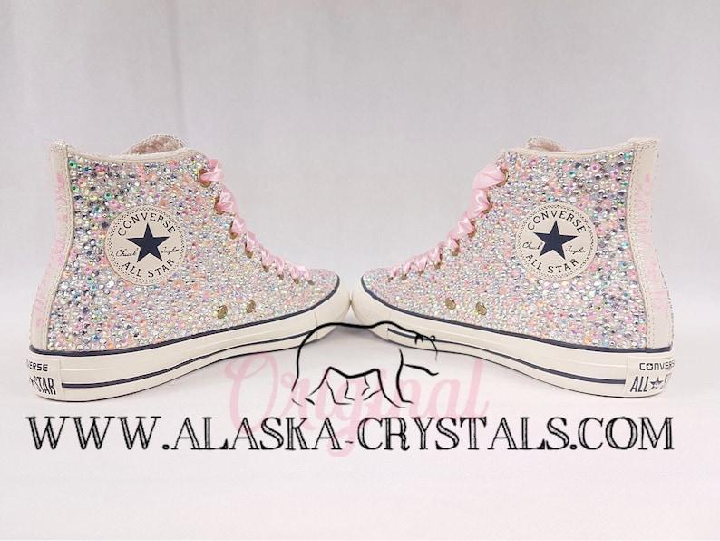 c63255f455fe Luxury Converse Custom Converse Wedding Converse Crystal