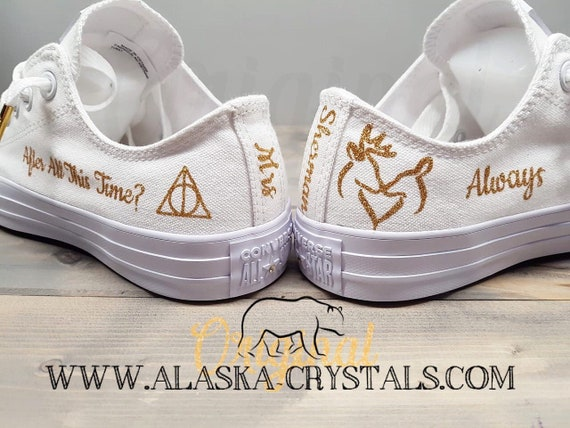 Harry Potter Style Custom Wedding Converse Converse With Etsy