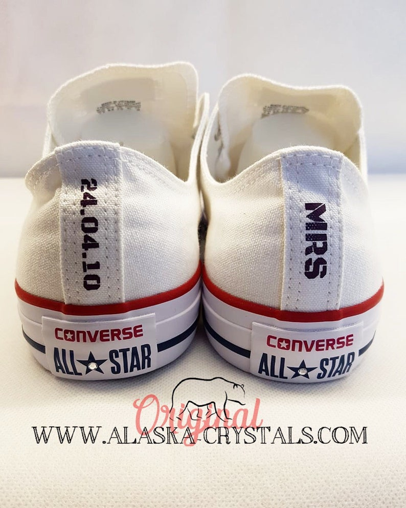 Disney Themed Unisex Custom Wedding Converse With Swarovski Crystals f0200e6abbe