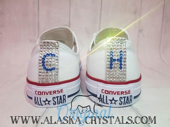be710a09b8d2 Custom Shoes Converse Swarovski Bridal Sneakers Rhinestone