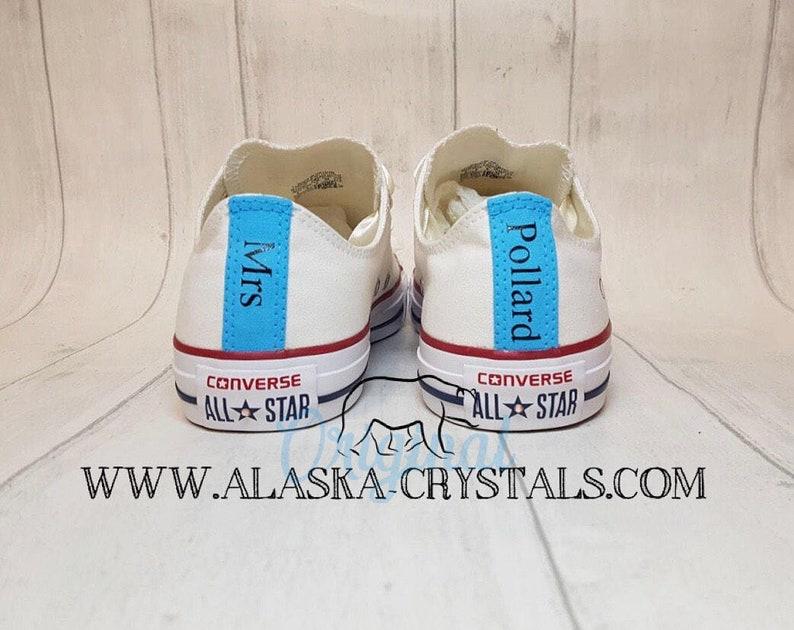 2e2bc8534842 Unisex Custom Wedding Converse With Swarovski Crystals Bridal