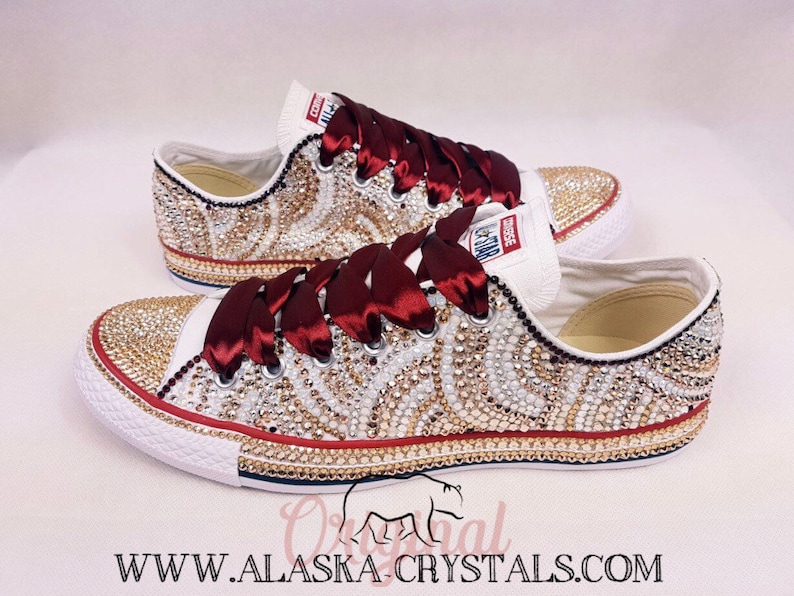 7d372c359361 Luxury Custom Converse Fully Covered In Swarovski Crystals