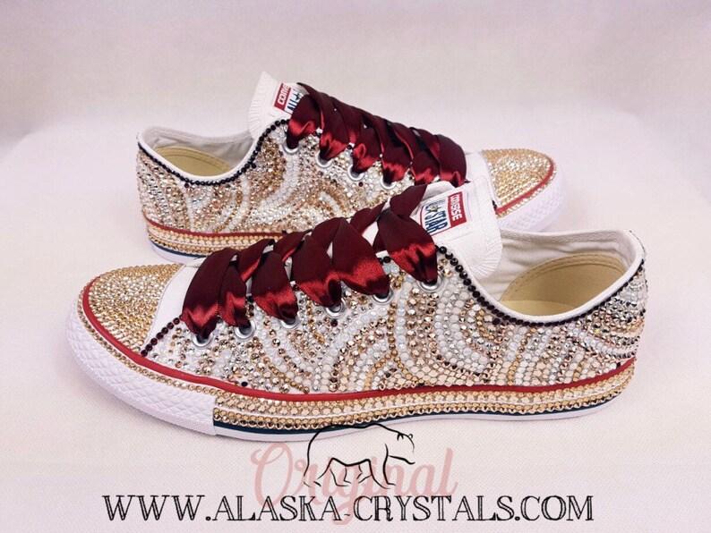 0062ff717f38 Luxury Custom Converse Fully Covered In Swarovski Crystals