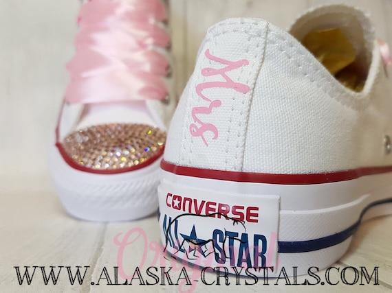 f40dab466177 Custom Shoes Converse Swarovski Bridal Sneakers Rhinestone