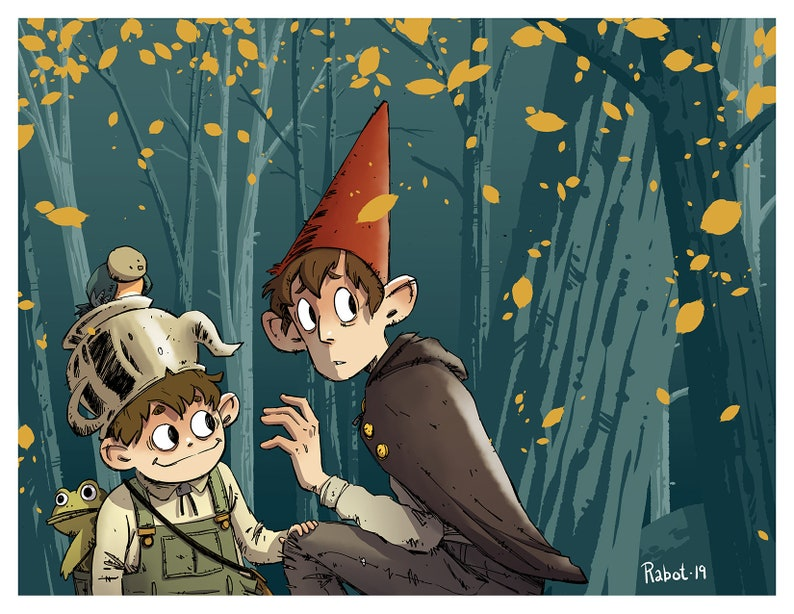 Over The Garden Wall Art Print Greg And Wirt Poster