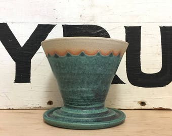 Teal Coffee Pour Over | Coffee Dripper | Handmade Ceramic