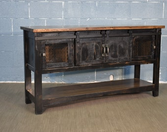 Distressed Tv Stand Etsy