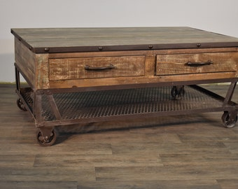 Reclaimed Wood Coffee Table Etsy