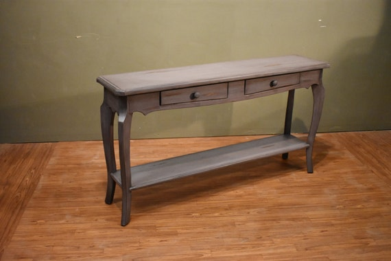 Incredible Rustic Style Solid Wood Distressed Painted Sofa Table Console Table With Drawers And Bottom Shelf Onthecornerstone Fun Painted Chair Ideas Images Onthecornerstoneorg