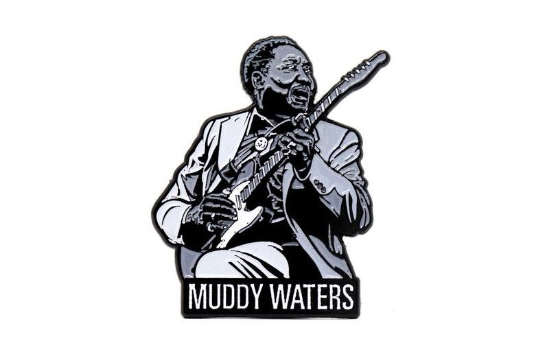 Muddy Waters Enamel Pin